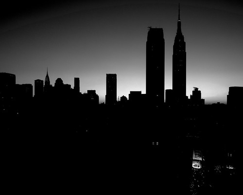 new york skyline silhouette. New York City Skyline
