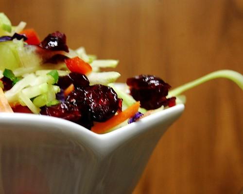 cranberry and honey coleslaw