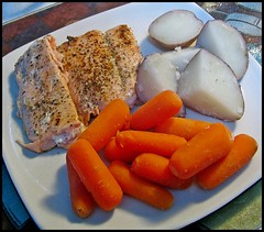 Meal (Sue90ca A Warm Weekend Ahead?) Tags: fish potatoes meal carrots 15challengeswinner canons5is