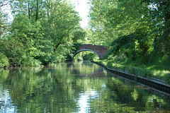 Trent & Mersey Canal I (Holfo) Tags: bridge trees light england reflections ripples staffordshire ukengland nikond40 staffsworcscanal