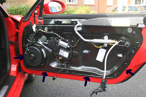 The Thing Hanging Down Is The Inner Door Pull Mechanism Remove From The Door  Panel.