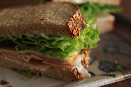 Delicious sandwich on homemade bread
