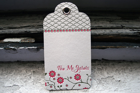 Letterpress Hang Tag from Smock