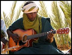 The Blues of Sahara ! (Bashar Shglila) Tags: sahara desert blues libya guitarist tuareg the libyen fezzan lbia libi of libiya liviya libija      lbija  lby libja lbya liiba livi