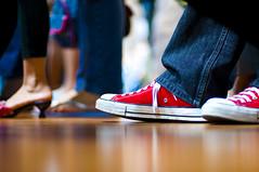 Standing Room Only (michaeljosh) Tags: church shoes floor footwear heels chucks nikkor50mmf14d standingroomonly project365 nikond90 michaeljosh