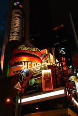 Hershey's! (Loreleianne) Tags: nyc newyorkcity travel signs night lights words store chocolate manhattan timessquare thechallengegame challengegamewinner