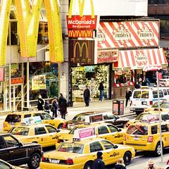 yellow (Tracy Weston Photography) Tags: new york nyc newyork colour lights nikon bright taxi timessquare 20mm actions subtle d700 cinnamonrose popolicious maggiefortson blishtone