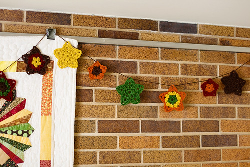 crochet granny star garland!
