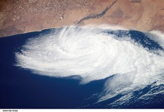 Low Pressure System Near Morocco (NASA, International Space Station Science, 06/26/07) (NASA's Marshall Space Flight Center) Tags: clouds nasa morocco 1001nights internationalspacestation justclouds lowpressuresystem flickrestrellas stationscience crewearthobservation 1001nightsmagiccity
