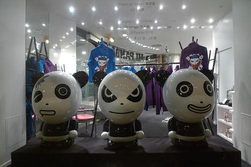 Vitrine Hi Panda Citadium - Janvier 2010