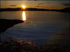 The Golden Path (4paw) Tags: sunset sea sky sun seaweed reflection water clouds gold coast scotland highlands ripples loch sutherland lochinver sealoch lookmumivedoneanothercolour