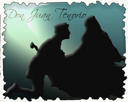 postal para recordar don juan tenorio y jose zorrilla