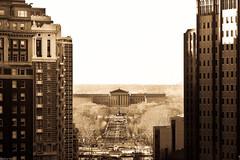 Philadelphia Art Museum (Harpo42) Tags: building tower philadelphia architecture nw tour northwest cityhall horizon center tourist historic philly artmuseum distance far broadstreet distant benfranklinparkway