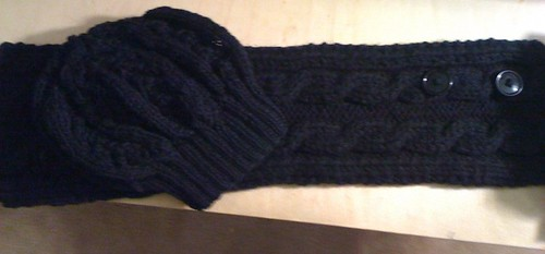 cowl and hat set layed out