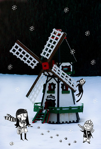 the windmill and the black cat by good mood factory