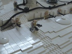 Hoth Battle (brickplumber) Tags: starwars lego legostarwars hoth episodev fbtb echobase hothbattle