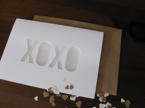 XOXO Die-Cut Stationery