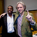 Bob Geldof and Aaron Mokoena