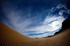 [フリー画像] 自然・風景, 砂漠, 空, アルジェリア, サハラ砂漠, 201003170700