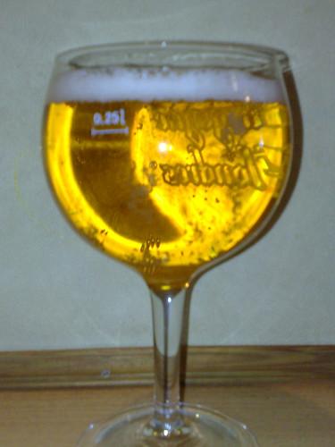 Hite beer glass