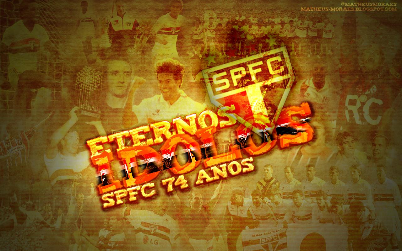 Wallpaper SPFC Eternos Idolos - 1280x800px