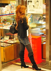 Shibuya /  () Tags: camera city vacation holiday girl fashion night magazine asian island tokyo nikon phone boots candid telephone shibuya cell style mini skirt smoking  paparazzi nippon garota  mulheres magazines oriental  70300mm mujeres isle miniskirt fille rtw windowshopping nihon edo kanto vacanze asiangirl japanesegirl globetrotter japn honshu   tky shibuyaward leatherboots  worldtraveler shibuyaku nightcapture 22days landoftherisingsun  nihonkoku nipponkoku tkyto   d700 tokyometropolis nikond700     tkei