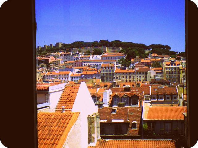 On the top is the Castle of São Jorge @ Lisbon/Lisboa