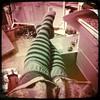 Pointe (Angela.) Tags: mess legs stripysocks img5598 otks iphone3g hipstamatic hipstamaticapp hipstamatic110