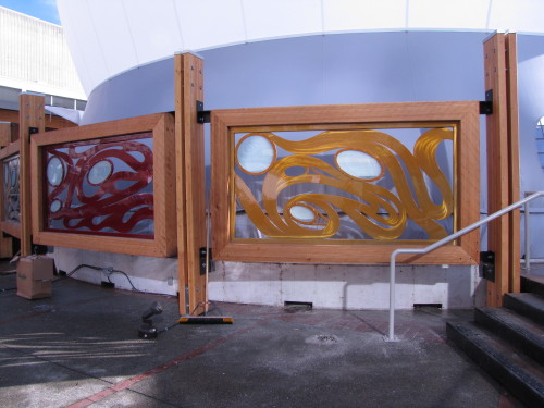 panels by the Aboriginal Pavilion