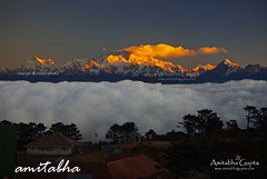 Sleeping Buddha at Sunrise from Sandakphu (AmitabhaGupta) Tags: winter india mountain mountains tourism nature landscape frozen snowcapped himalaya