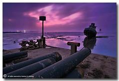 Destroyed (ibrahem N. ALNassar) Tags: sea canon landscape eos 5 n l 5d kuwait usm destroyed ef 1740mm f4 من in ابراهيم الكويت كويت alnassar my كانون ibrahem الحطام النصار