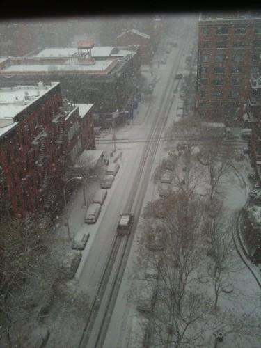 snow picking up