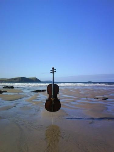 Cello in the Sand