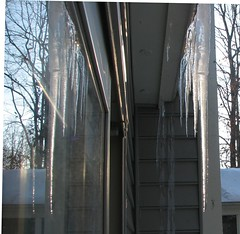 reflection of ice (DebbieMcKee) Tags: snow icicles winter2010