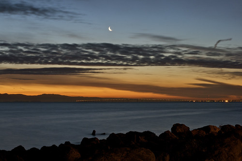 Moon Over the San Mateo Bridge #3