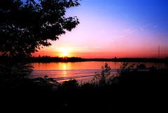 Sunset on the Ohio (greeblie) Tags: sunset ohio film canon river indiana evansville filmisnotdead eos630 canoneos630 greeblie