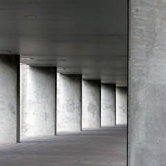 decrescendo (brancolina) Tags: shadow urban abstract architecture concrete rotterdam geometry passage nai brancolina