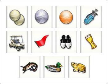 free Golden Tour slot game symbols