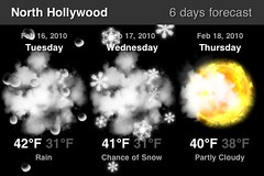 I think the weather for NoHo may be incorrect. Either that or the end is extremely nigh. (shadowstorm) Tags: weather 3gs iphone northhollywood worldweather