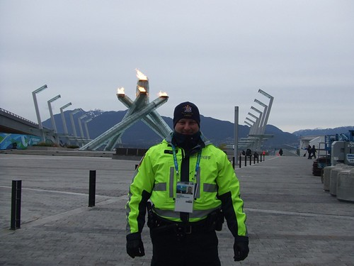 Vancouver 2010 Olympic Security at Cauldron