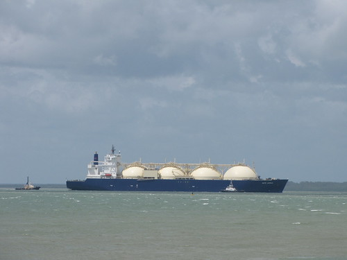 LNG Carrier Alto Acrux Departing Darwin February 2010