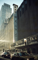 Radio City Music Hall - Lights Out (B HAUS) Tags: nyc lomo lomography manhattan taxi radiocitymusichall radiocity 2012 taxicab apocolypse unlit apocolyptic lomolcarl