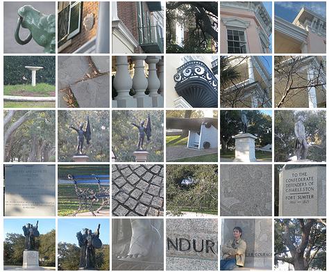 thumbnails of the photo walk at the battery in charleston, south carolina