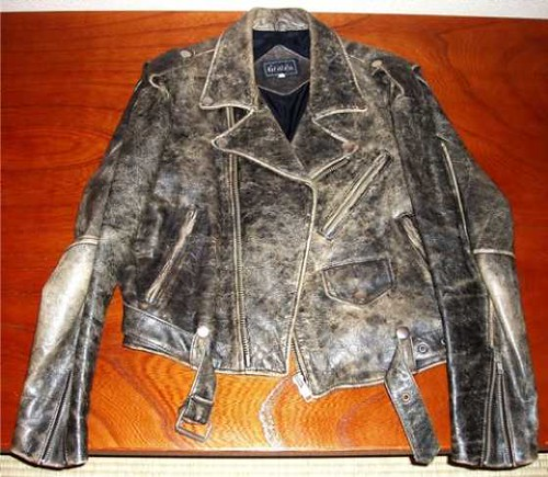 100% organic cow leather Jacket (front). Y40,000