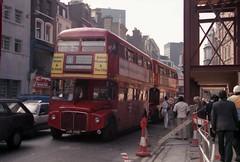 RM buses in Bishopsgate (Tim@SW2008) Tags: bus london 1987 routemaster bishopsgate rm