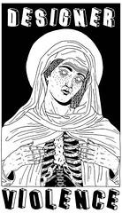 designer violence (pearpicker.) Tags: illustration skeleton designer drawing halo icon sacred bones violence pearpicker benerohlmann