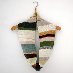 (sandra juto) Tags: white wool alpaca wall scarf handmade stripes colourful hanger handknitted neckworm
