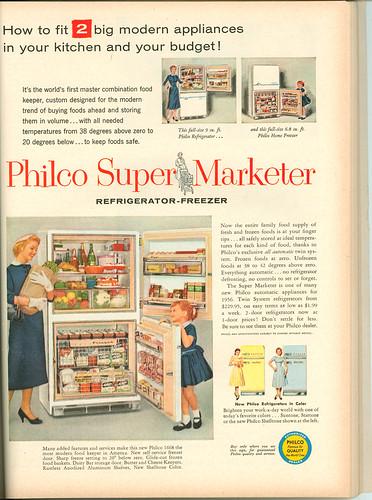1956 Philco Super Marketer refrigerator-freezer