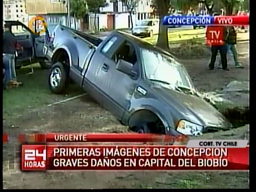 Earthquake in Chile 2010 truck