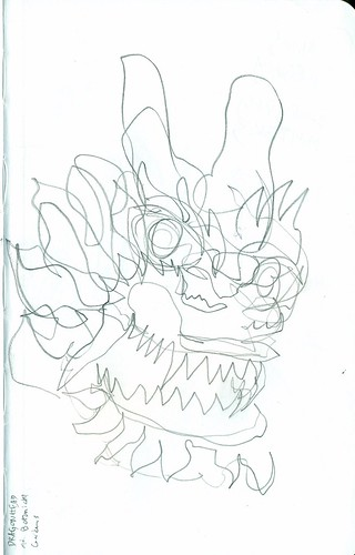 Blind Contour Dragon Head at the US Botanical Gardens